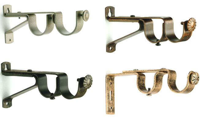Curtain Rods cheapest place to buy curtain rods : Curtain Rod Brackets - Buy Drapery Hardware Brackets