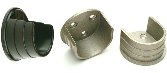 wall mount curtain rod brackets