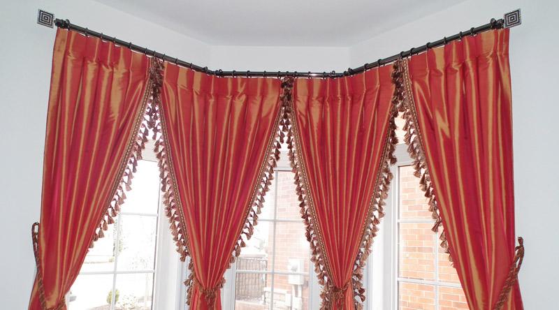 bay window curtain poles bay window drapery hardware