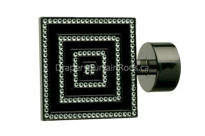 Black nickle decorative finials