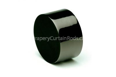 Black nickle curtain rod end caps