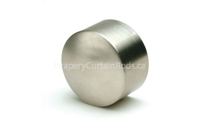 Nickle brushed curtain rod end caps