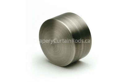 Pewter curtain rod end caps