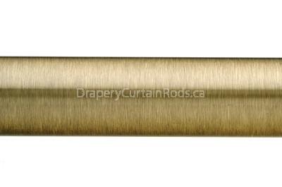 Antique brass plain curtain poles