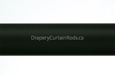 Black plain curtain poles