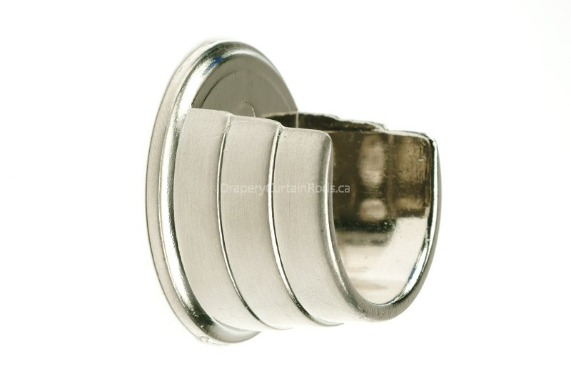 Nickle Brushed Wall Mount Curtain Rod Brackets