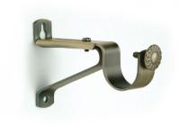 Antique brass single curtain rod brackets