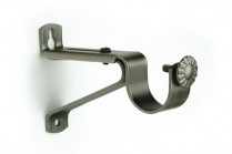 Pewter single curtain rod brackets