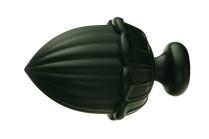 Black decorative finials
