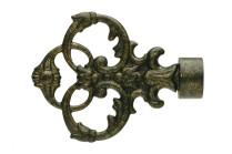 Antique gold decorative finials