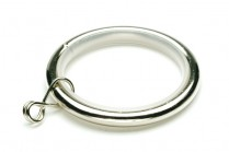 Nickle brushed curtain rod rings