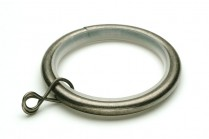 Pewter curtain rod rings