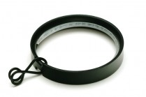 Black flat curtain pole rings