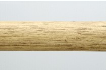 Antique ivory wooden curtain rods