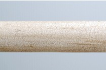 Ivory crackle wooden curtain rods