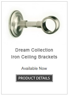 Iron Curtain Rod Ceiling Brackets Dream Collection