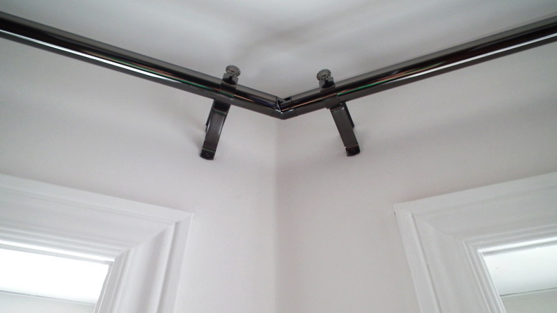 Curtain Rods For Big Windows Corner Kitchen Window Treat