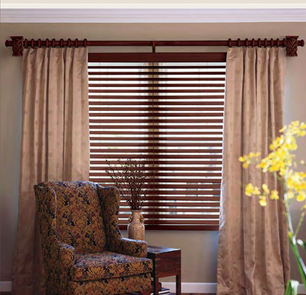 Give Your Home A New Look With Wooden Curtain Rods Drapery Room Ideas