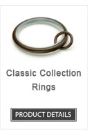 Iron Curtain Rod Rings Classic Collection