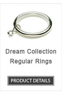 Iron Curtain Rod Rings Dream Collection