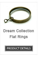 Flat Iron Curtain Rod Rings Dream Collection