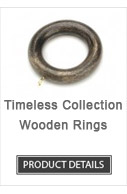 Wooden Curtain Rod Rings Timeless Collection