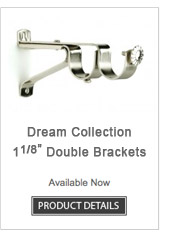 Iron Double Curtain Rod Brackets Dream Collection