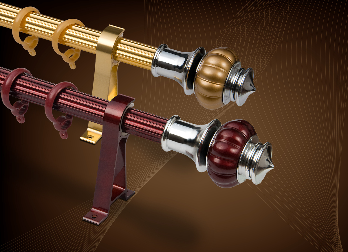 Curtain rod and accessories finials