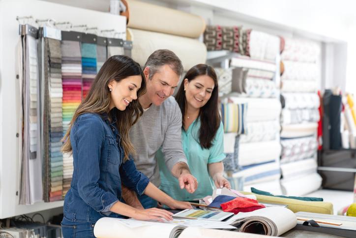 buying fabrics