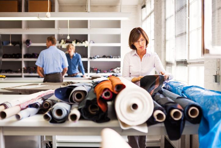 inspecting the fabrics